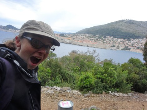 Running on Lokrum - an Island with views of Dubrovnik